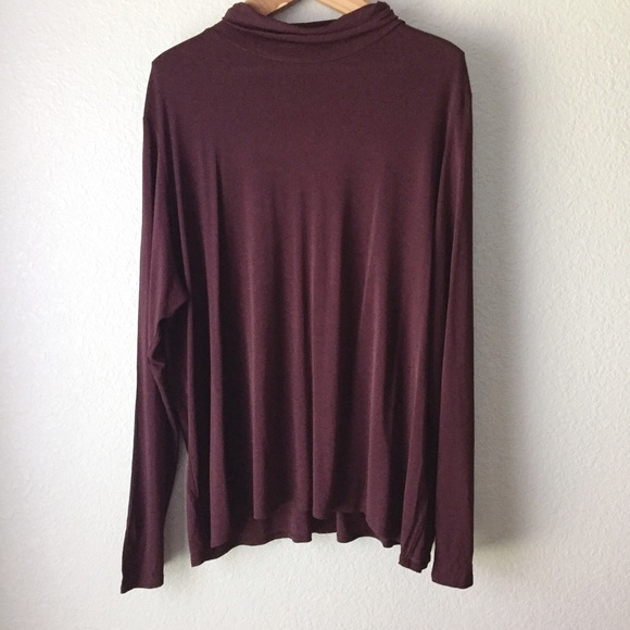920463d916b Eileen Fisher NWT Purple Silk Turtleneck Blouse